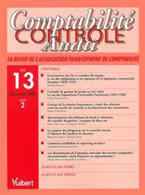 Comptabilité - Contrôle - Audit 2007/2