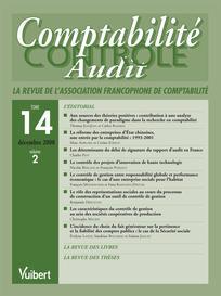 Comptabilité - Contrôle - Audit 2008/2