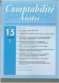 Comptabilité - Contrôle - Audit 2009/1