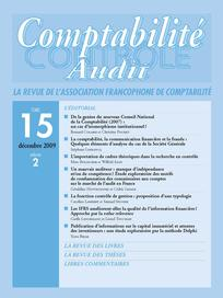 Comptabilité - Contrôle - Audit 2009/2