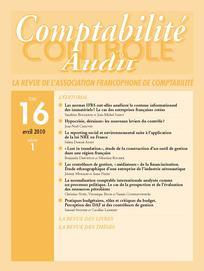 Comptabilité - Contrôle - Audit 2010/1