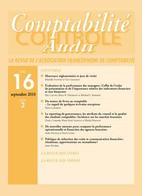 Comptabilité - Contrôle - Audit 2010/2