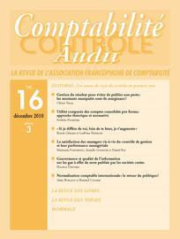Comptabilité - Contrôle - Audit 2010/3