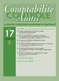 Comptabilité - Contrôle - Audit 2011/2