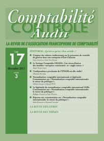 Comptabilité - Contrôle - Audit 2011/3