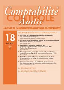 Comptabilité - Contrôle - Audit 2012/1