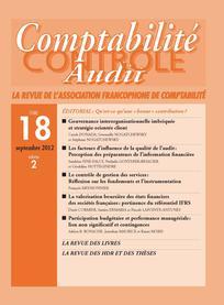 Comptabilité - Contrôle - Audit 2012/2