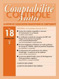 Comptabilité - Contrôle - Audit 2012/3