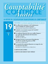Comptabilité - Contrôle - Audit 2013/1