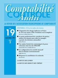 Comptabilité - Contrôle - Audit 2013/2