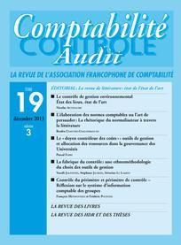 Comptabilité - Contrôle - Audit 2013/3