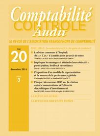 Comptabilité - Contrôle - Audit 2014/3