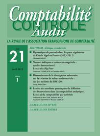 Comptabilité - Contrôle - Audit 2015/1