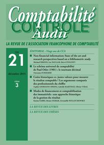 Comptabilité - Contrôle - Audit 2015/3