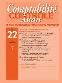 Comptabilité - Contrôle - Audit 2016/1