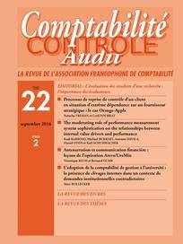 Comptabilité - Contrôle - Audit 2016/2