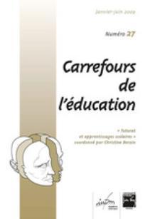 Carrefours de l'éducation 2009/1