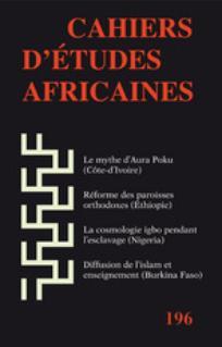Cahiers d'études africaines 2001/1
