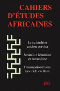 Cahiers d'études africaines 2006/1