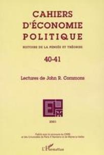 Cahiers d'économie Politique / Papers in Political Economy 2001/2