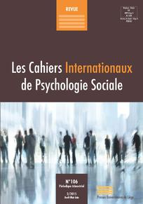 Les Cahiers Internationaux de Psychologie Sociale 2015/2
