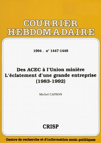 Courrier hebdomadaire du CRISP 1994/22