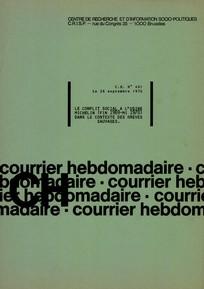 Courrier hebdomadaire du CRISP 1970/26