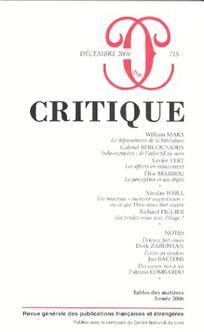 Critique 2006/11