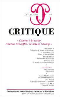 Critique 2011/10