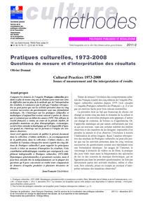 Culture méthodes 2011/2