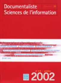 Documentaliste-Sciences de l'Information 2002/4