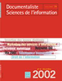 Documentaliste-Sciences de l'Information 2002/6