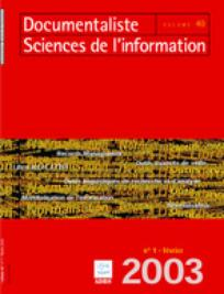 Documentaliste-Sciences de l'Information 2003/1