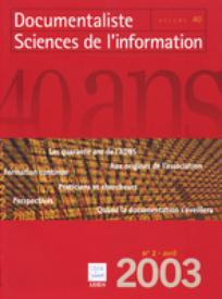 Documentaliste-Sciences de l'Information 2003/2