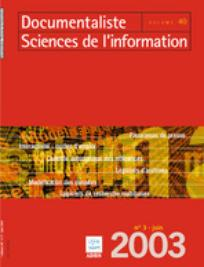 Documentaliste-Sciences de l'Information 2003/3