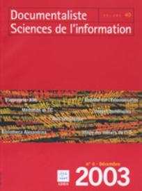 Documentaliste-Sciences de l'Information 2003/6