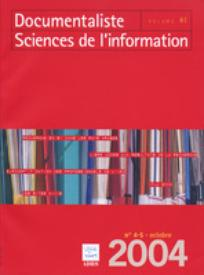 Documentaliste-Sciences de l'Information 2004/4