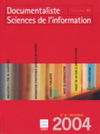 Documentaliste-Sciences de l'Information 2004/6
