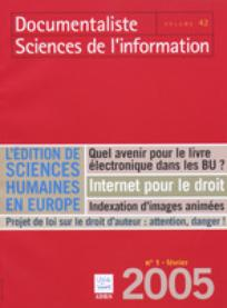 Documentaliste-Sciences de l'Information 2005/1