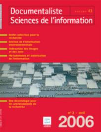 Documentaliste-Sciences de l'Information 2006/2