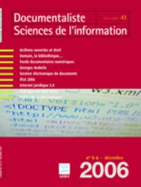 Documentaliste-Sciences de l'Information 2006/5