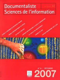 Documentaliste-Sciences de l'Information 2007/6