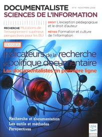 Documentaliste-Sciences de l'Information 2009/4