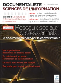 Documentaliste-Sciences de l'Information 2010/3
