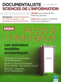 Documentaliste-Sciences de l'Information 2011/3