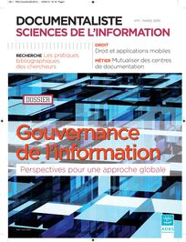 Documentaliste-Sciences de l'Information 2013/1