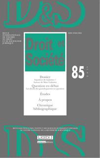Droit et société 2013/3
