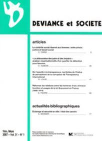 Déviance et Société 2007/1