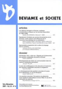 Déviance et Société 2009/4