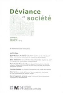 Déviance et Société 2010/1